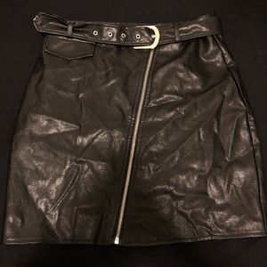 Missguided Pleather Skirt w/ Belt